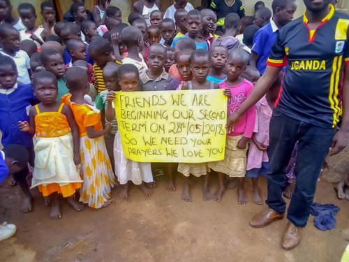 the orphans requesting assistance and prayers