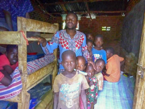Katongole with the orphans